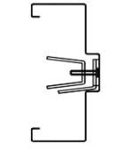 Diagram for knock down drywall frame